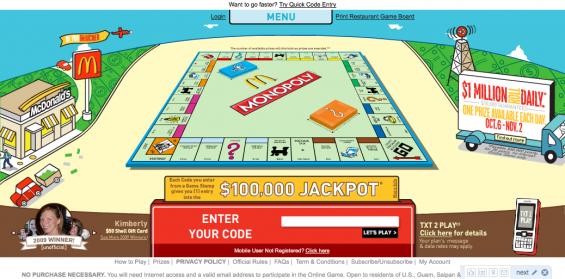 McDonalds Monopoly 2009