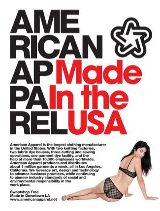 American Apparel advertising 2010 #2