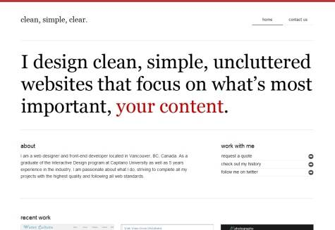 Clean, Simple,  Clear