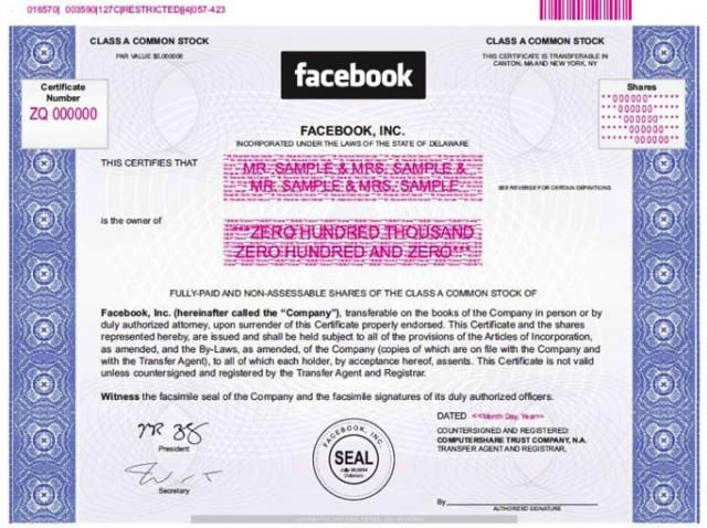Facebook IPO price set
