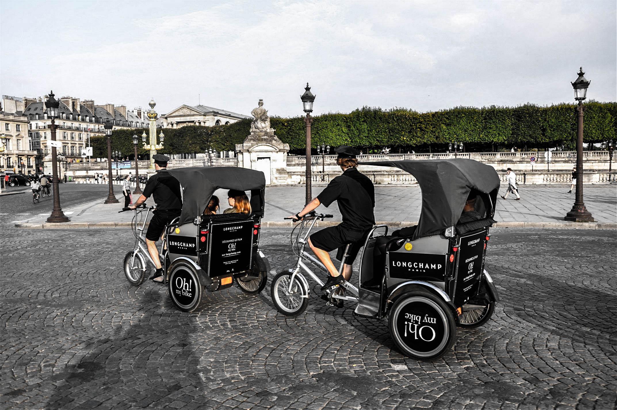Ballade dans Paris avec Longchamp pour Oh! my bike