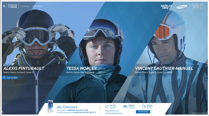 PassionForSochi, partagez votre passion pour les JO d'hiver et la Samsung Galaxy Team !