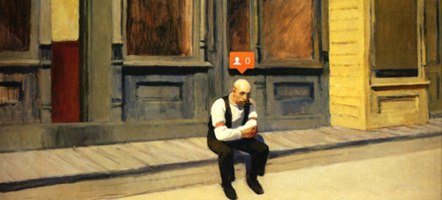 Et si Edward Hopper avait connu Instagram et Facebook ?