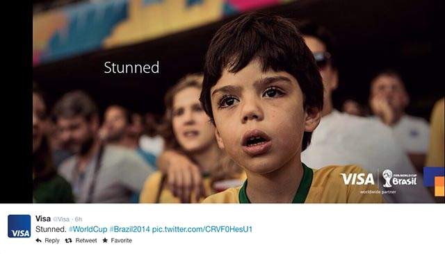 Visa Tweets FIFA World Cup