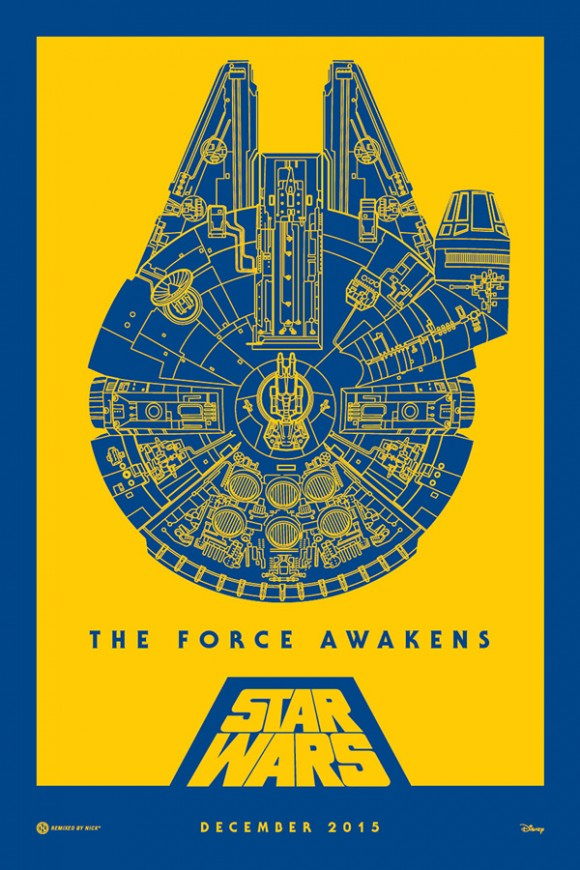 Star Wars - The Force Awakens - Millennium Falcon Posters