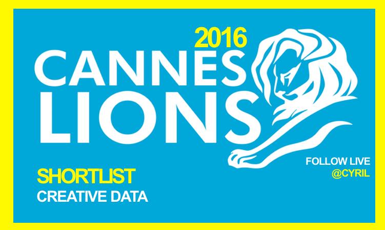 Creative Data Lions Shortlist